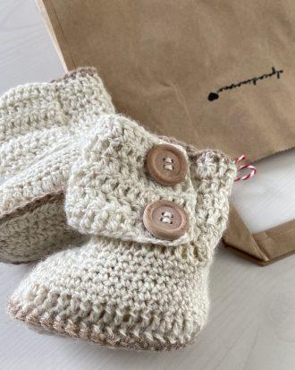 Baby booties Alpaca - Alpaca di Marano